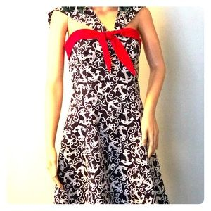 Betsey Johnson Anchor Print Dress
